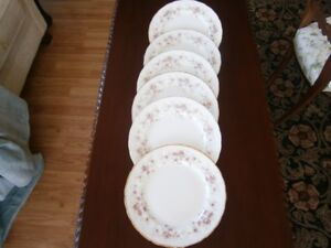 SIX BEAUTIFUL PARAGON VICTORIANA ROSE SERVING PLATES