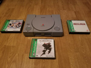 PS1 SYSTEM WITH GAMES PRICED SEPARATELY