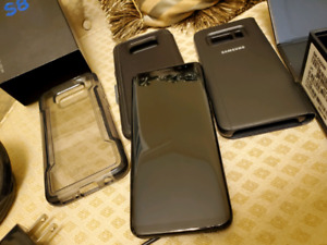 Samsung S8 64GB + 3 cases Otterbox   Bell/Virgin Mobile