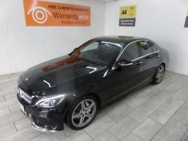 BLACK MERCEDES-BENZ C CLASS 2.1 C220 BLUETEC AMG PREMIUM *FROM £431 PER MONTH*