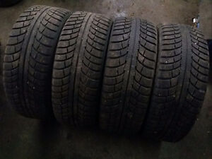 Set of 4 used Winter tires 205/55/16 Gislaved Nordfrost