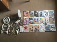 Nintendo Wii console & 18 games