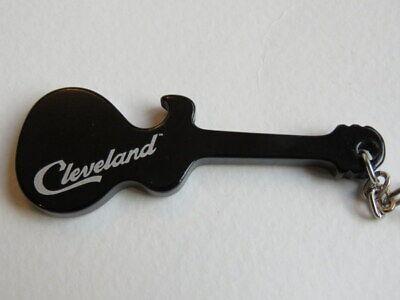 Botella de Cerveza Tapa Abridor Llavero ~ Cleveland, Ohio ~ Guitarra Diseño R&r