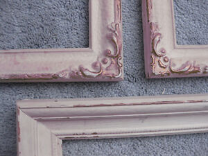 THREE REAL ANTIQUE WOOD PICTURE FRAMES