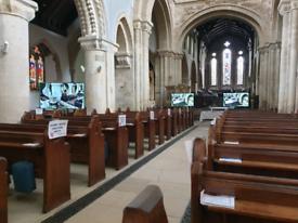 Wimborne Minster Church Pews