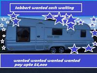 wanted or tabbert vivaldi or hobby caravan with bathroom wanted cash waiting