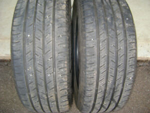 Two Continental tires 225/55/R17 Very good condition.