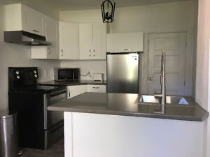 2+den newly renovated unit available immediately
