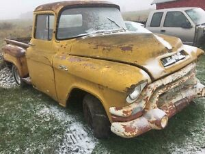 1957 Chevy short box step side western truck