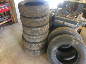 TIRES..... GOOD USED ALL SEASON TIRES.....