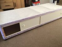 "2 ft 6"" bed base with sliding doors & headboard VGC"