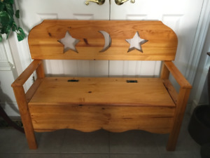 CUSTOM MADE PINE DEACONS BENCH