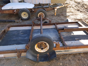 Single bed snowmobile trailer axel with tires