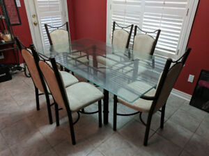Large Glass Top Dining Table With Chairs