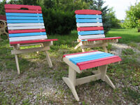 Decorative Lawn chairs with stool/table