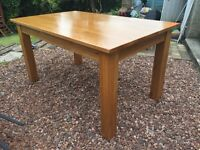 Solid Oak Dining Table or large desk