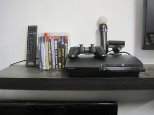 Playstation 3 with remot and ps move