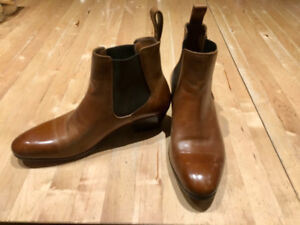Brand new Fluevog boots size 10 women's in camel brown.