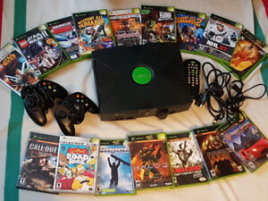 Original Xbox system w/16 games and more....