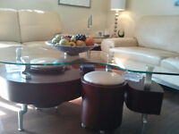Contemporary coffee tables with hide-away seating