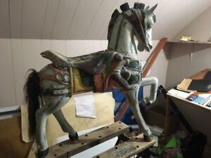 Antique woodenCarousel Horse 37 in. X 37 in. $3,500 OBO