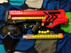 Nerf Rival Zeus + mask and 2nd clip 50$