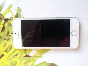 white/silver  IPHONE 5s locked to Telus/Koodo