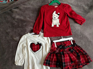 Kilt and 2 matching tops - size 3T (Children's Place)
