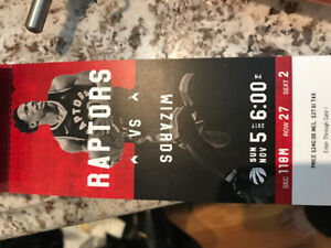 4 raptors tickets to tonight's game vs wizards