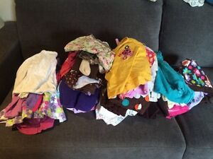 Box of baby girl clothes 3 months to 2t