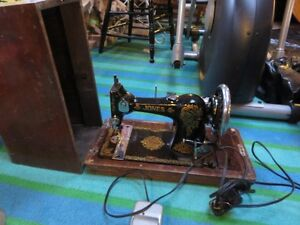 JONES ANTIQUE SEWING MACHINE IN GOOD WORKING CONDITON asking $15