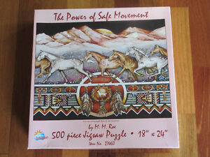 500 Piece puzzle  -  Horses The power of Safe Movement 18 x 24""
