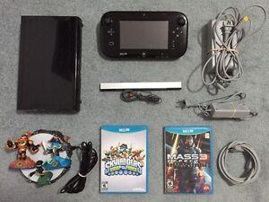 Black 32 Gig Wii U w/ 2 Games + Skylanders Figures