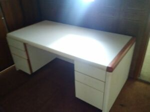 white heavy duty desk