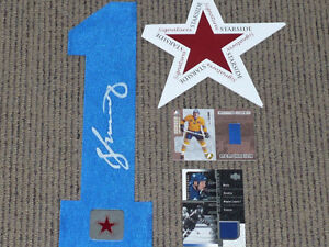 Maple Leafs Salming signed Jersey Number COA + 2 Bonus Cards
