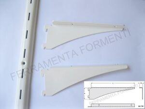 2 cremagliere cm 200 8 supporti per mensole cabina for Supporti per mensole