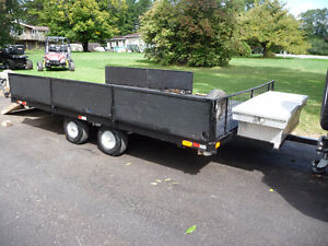 Tandem Axle trailer 12 x 7 Great for ATV`S  Also a 12 x 5ft 6 in