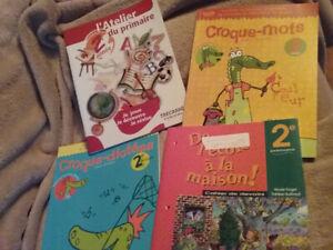 4 manuels scolaires pour la 2e année primaire- 20$ le lot