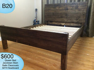 RUSTIC SOLID WOOD FARMHOUSE BEDS - TWIN/DOUBLE/QUEEN/KING/BUNK Kingston Kingston Area image 9