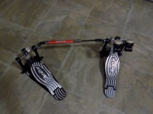 GIBRALTAR STRAP DRIVE DOUBLE BASS DRUM PEDALS (LIKE NEW)
