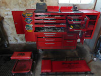 Large Snap-On & Blue Point Tools Mechanic Set & Box Hand & Power