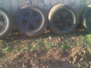 16inch 5 bolt alloy rims and tires