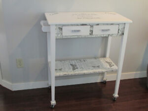 KITCHEN ISLAND CART/COFFEE CART WITH FRENCH FLARE