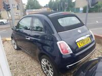 2010Fiat 500C 1.4 ( 100bhp ) Dualogic LOUNGE soft top retractable roof auto