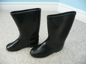 Brand New Black Rubber Boots - Child's Size 13