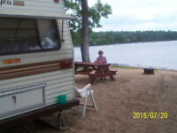 Furnished trailer rentals, at Round Lake, two hours from Ottawa.