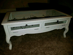 Pier 1 Antique White Madeline Coffee and End table