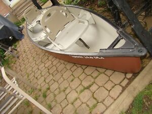 Pelican 14.6 DLX Canoe, Built in Seats. and accessories.