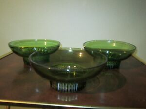 Set of 3 Large Green Salad Bowls