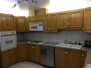 Kitchen cabinets - solid wood, appliances included